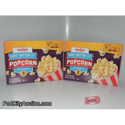 LOT OF 2 Meijer Light Butter Microwave Popcorn