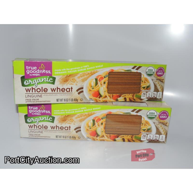 Lot of 2 True Goodness By Meijer Organic Whole Wheat Linguine